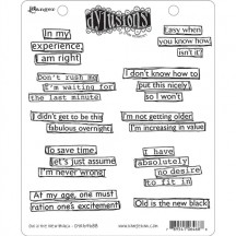 Dylusions Old is the New Black Cling Mount Stamp Set from Stampers Anonymous DYR64688