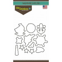 Die-Versions Sail Away Universal Cutting Die - DV-9012 Stamp Matching Die