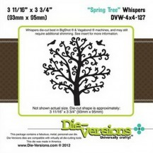 Die-Versions Spring Tree Universal Cutting Die - Whispers DVW-4x4-127