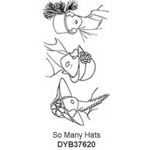 Dylusions Clear Stamp Set from Ranger - So Many Hats DYB37620