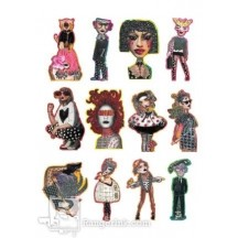 Ranger Dylusions Creative Dyary Die Cuts Set 6 by Dyan Reaveley - DYE60147