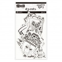 Ranger Dylusions Creative Dyary Die Cuts Set 7 by Dyan Reaveley - DYE60154