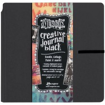 "Ranger Dylusions Black Square Standard 8""x8"" Creative Journal - DYJ45557"