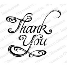 Impression Obsession Thank You Cling Rubber Stamp E15090