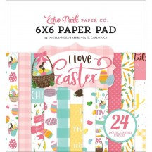 "Echo Park I Love Easter 6""x6"" Double-Sided Paper Pad 24 Sheets LEA205023"
