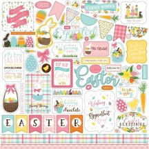 "Echo Park I Love Easter 12""x12"" Element Shape Stickers LEA205014"