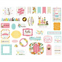 Echo Park I Love Easter Ephemera Die Cut Cardstock Pieces LEA205024