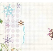 "Fancy Pants Eclectic Winter Overlay 12"" x12"" Transparency Sheet - 524 - Christmas"