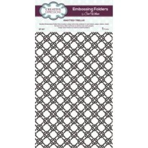 Creative Expressions Knotted Trellis A4 Embossing Folder - EF-027 - Sue Wilson