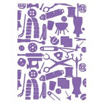 Couture Creations Bibs And Bobs Premium Universal Embossing Folder - Who What Wear Collection
