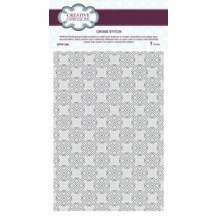 Creative Expressions Cross Stitch A4 PinPoint Embossing Folder - EFPP-006 - Sue Wilson
