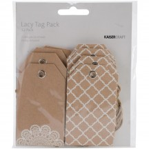 Kaisercraft Mix & Match Kraft Tag Pack - Lacy EM403