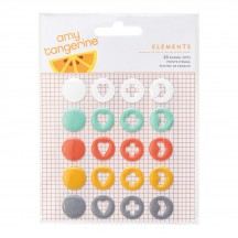 American Crafts Amy Tangerine Stitched Enamel Dots 368978