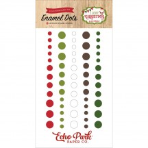 Echo Park I Love Christmas Enamel Dots - red, green, white ILC114028