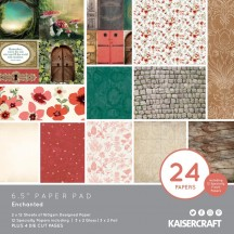 "Kaisercraft Enchanted 6.5""x6.5"" Specialty Paper Pad PP1072 40 Sheets"