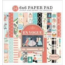 "Carta Bella En Vogue 6""x6"" Double-Sided Paper Pad EV103023"