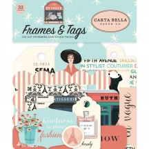 Carta Bella En Vogue Frames & Tags Die Cut Cardstock Pieces EV103025