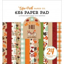 "Echo Park My Favorite Fall 6""x6"" Double-Sided Paper Pad 24 Sheets MF187023"