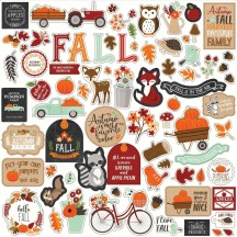 "Echo Park My Favorite Fall 12""x12"" Element Shape Stickers MF187014"