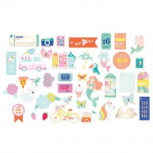 American Crafts Dear Lizzy Stay Colorful Die-Cut Cardstock Ephemera 346489