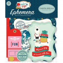 Carta Bella Pack Your Bags Icons Ephemera Die Cut Cardstock Pieces CBPYB86024