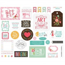 Echo Park I Heart Crafting Ephemera Die Cut Cardstock Pieces HC169024