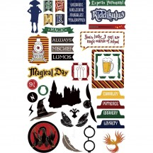 Photoplay Wizard World Colorplay Ephemera Die Cut Cardstock Pieces
