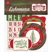 Echo Park The Story of Christmas Ephemera Die Cut Cardstock Pieces TSC94024