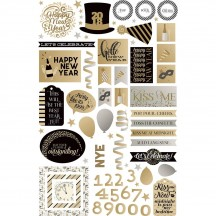 Photoplay Hello New Year Colorplay Ephemera Die Cut Cardstock Pieces