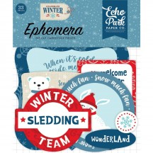 Echo Park Celebrate Winter Ephemera Die Cut Cardstock Pieces CW162024