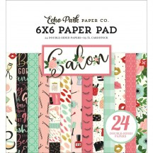 """Echo Park Salon 6""""x6"""" Double-Sided Paper Pad 24 Sheets SAL196023"""