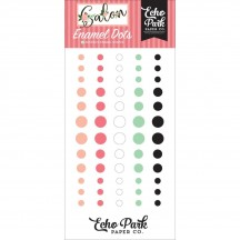 Echo Park Salon Enamel Dots white blush black pink mint SAL196028