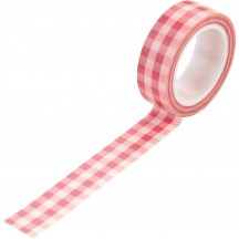 Echo Park Salon Pink Buffalo Plaid Decorative Washi Tape SAL196027