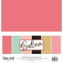 "Echo Park Salon 12""x12"" Solids Paper Kit SAL196015"