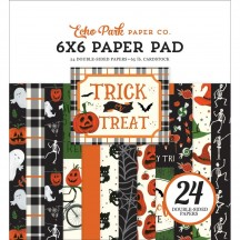 "Echo Park Trick or Treat Halloween 6""x6"" Double-Sided Paper Pad 24 Sheets TT186023"