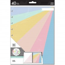 Me & My Big Ideas CLASSIC Happy Planner Pastel Color Rainbow Fill Paper APCFP40-005