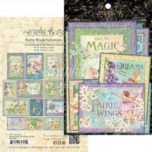 Graphic 45 Fairie Wings Journaling & Ephemera Cards 4502087