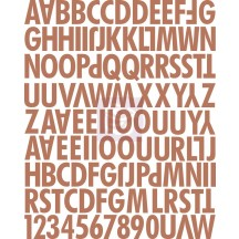 Prima Fairy Rhymes Soft Brown Uppercase Canvas Alphabet Stickers 562847
