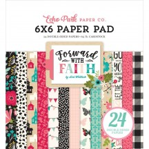"Echo Park Forward with Faith 6""x6"" Double-Sided Paper Pad 24 Sheets WF183023"