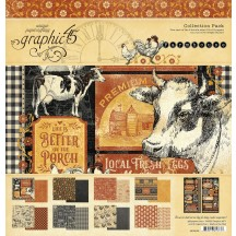 "Graphic 45 Farmhouse 12""x12"" Collection Pack 4502059"