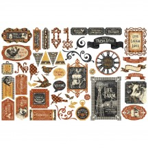 Graphic 45 Farmhouse Die-Cut Cardstock Ephemera Pieces 4502064
