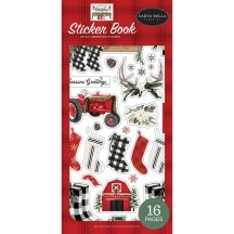 Carta Bella Farmhouse Christmas Sticker Book FAC123029