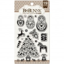 Bo Bunny Feeling Festive Christmas Clear Stamp Set 12105766