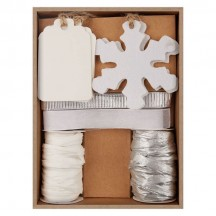 doCrafts Create Christmas Felt and Paper Gift Tag Kit Silver PMA 157935