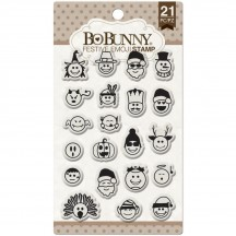 Bo Bunny Festive Emoji Clear Stamp Set 12105774