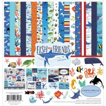 "Carta Bella Fish are Friends 12""x12"" Collection Kit FAF111016"