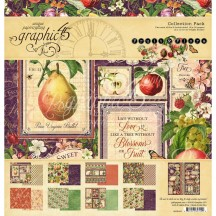 "Graphic 45 Fruit & Flora 12""x12"" Collection Pack 4502000"