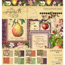 "Graphic 45 Fruit & Flora Designer 8""x8"" Paper Pad 24 sheets 4501999"
