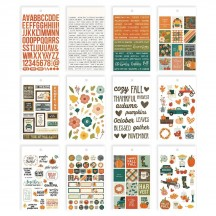 Simple Stories Fall Farmhouse Mini Sticker Tablet 11122