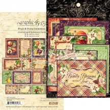 Graphic 45 Fruit & Flora Journaling & Ephemera Cards 4502004
